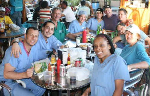 Medical Team in Haiti - Far Left: Dr Zwiebel